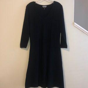Allison Brittney Black Textured Dress